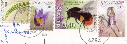 Solvenia - Bohinj - Sanica waterfall stamps