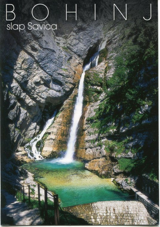 Solvenia - Bohinj - Sanica waterfall