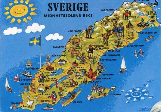 Sweden - Map card