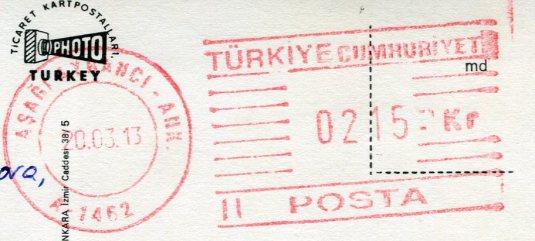 Turkey - Bandirma postage
