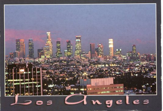 USA - California - Los Angles skyline