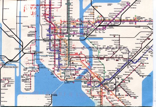 USA - New York -  Subway Map
