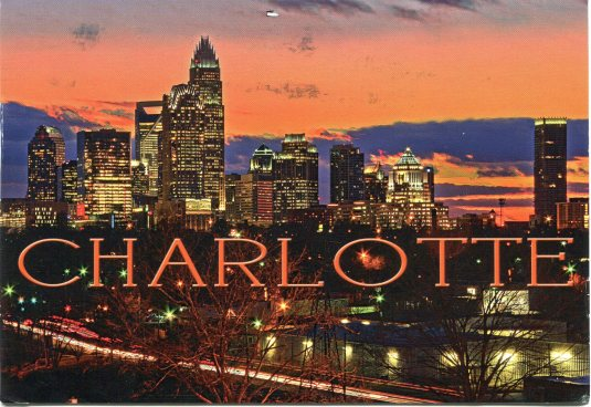 USA - North Carolina - Charlotte night cityscape