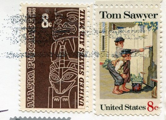 USA - Utah - Twin Tower Ruin stamps 1