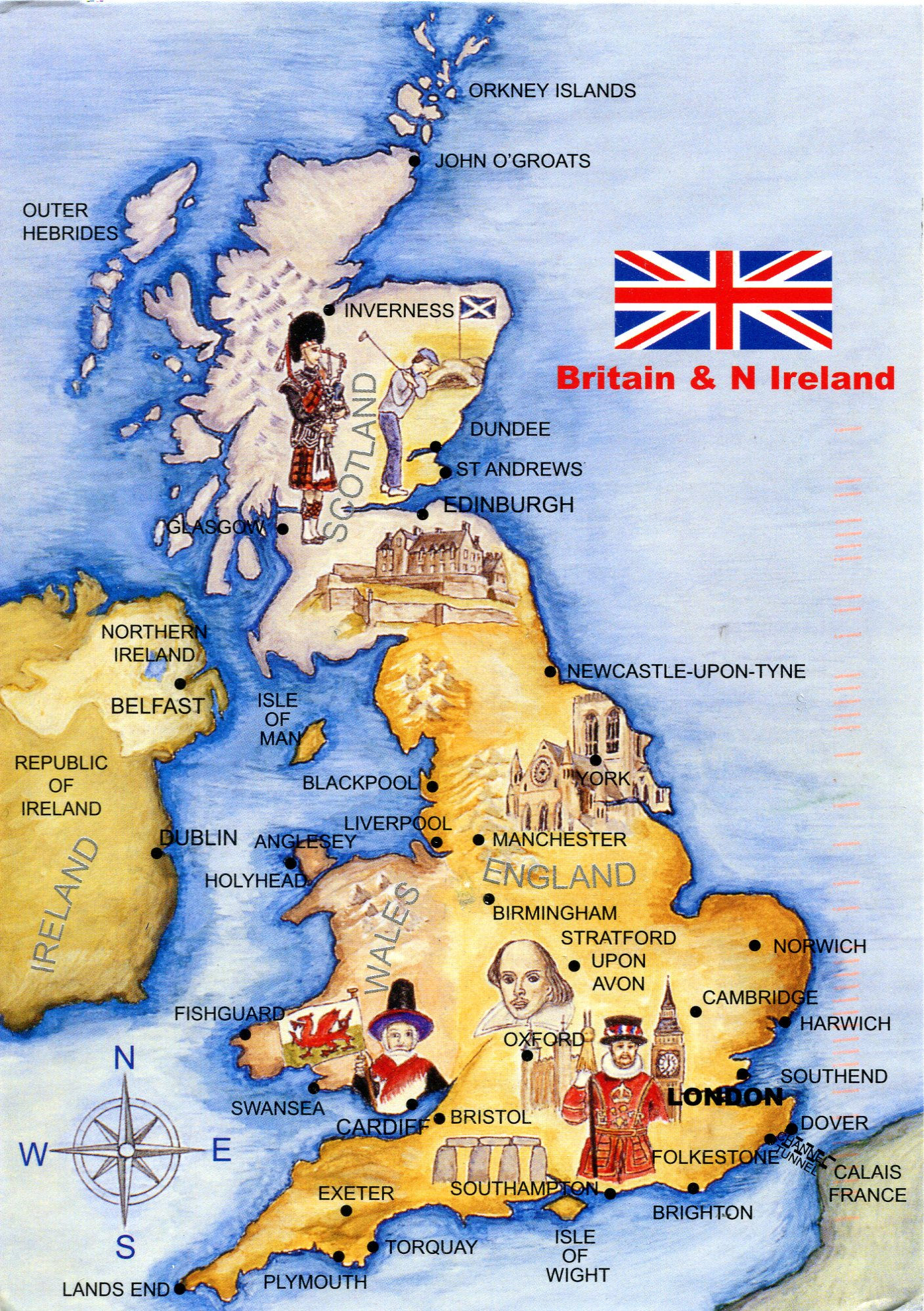 Uk Map Of Britain.Map Of Britain And Northern Ireland Remembering Letters And Postcards