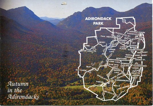 USA - New York - Adirondacks Map