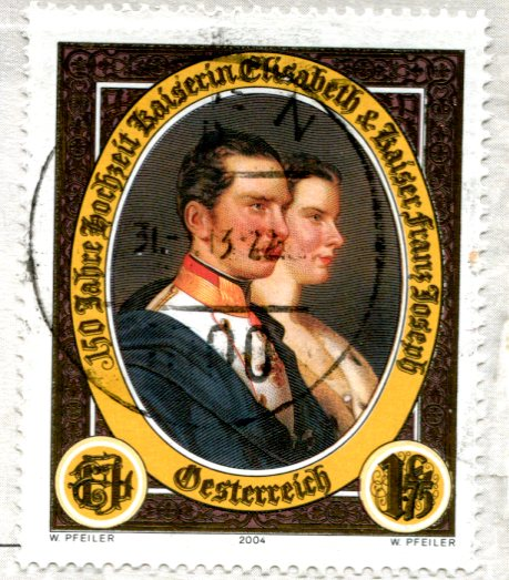 Austria - Klimt - The Kiss stamps