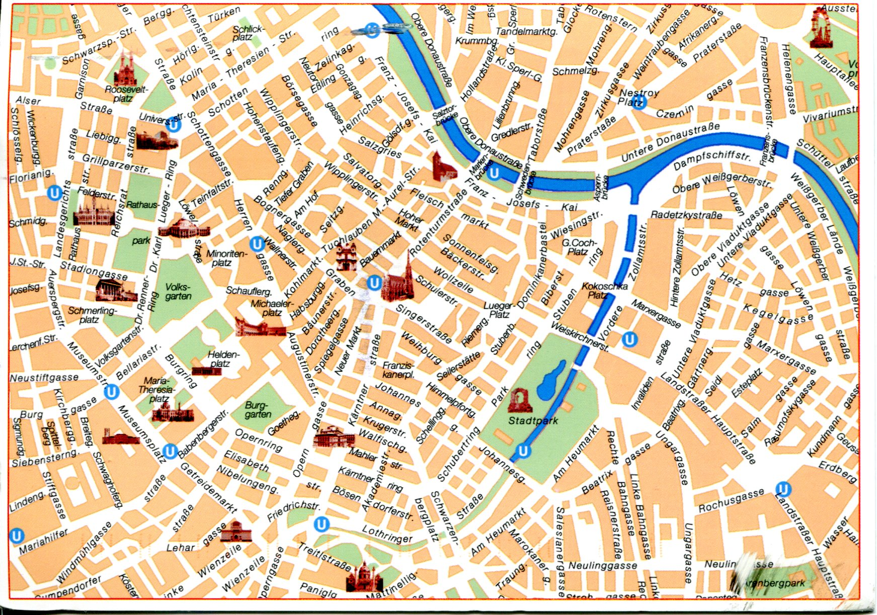 Map Of Vienna Austria Remembering Letters And Postcards - Austria major cities map