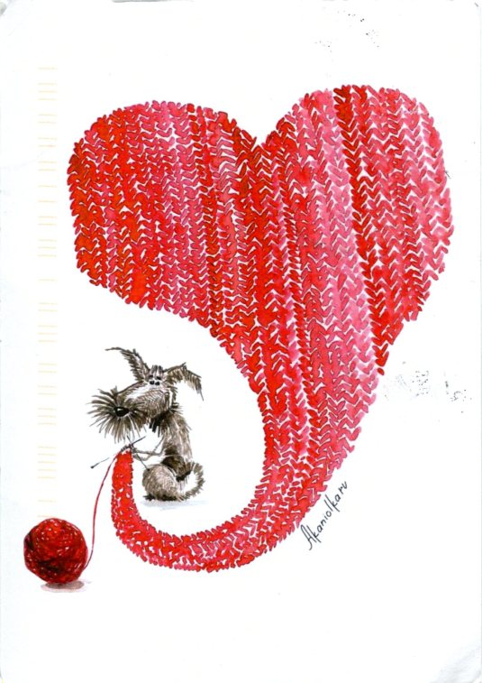 Russia - Knitted Heart