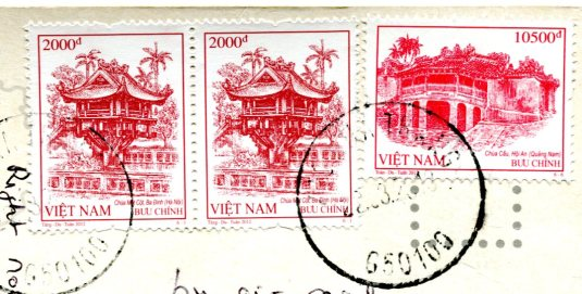 Vietnam -Tomb of King Minh Mang stamps