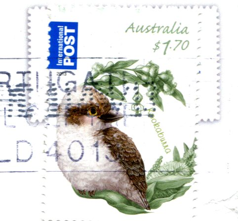 Australia - Fish jumping into sea stamps