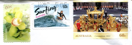 Australia - Map of Images stamps