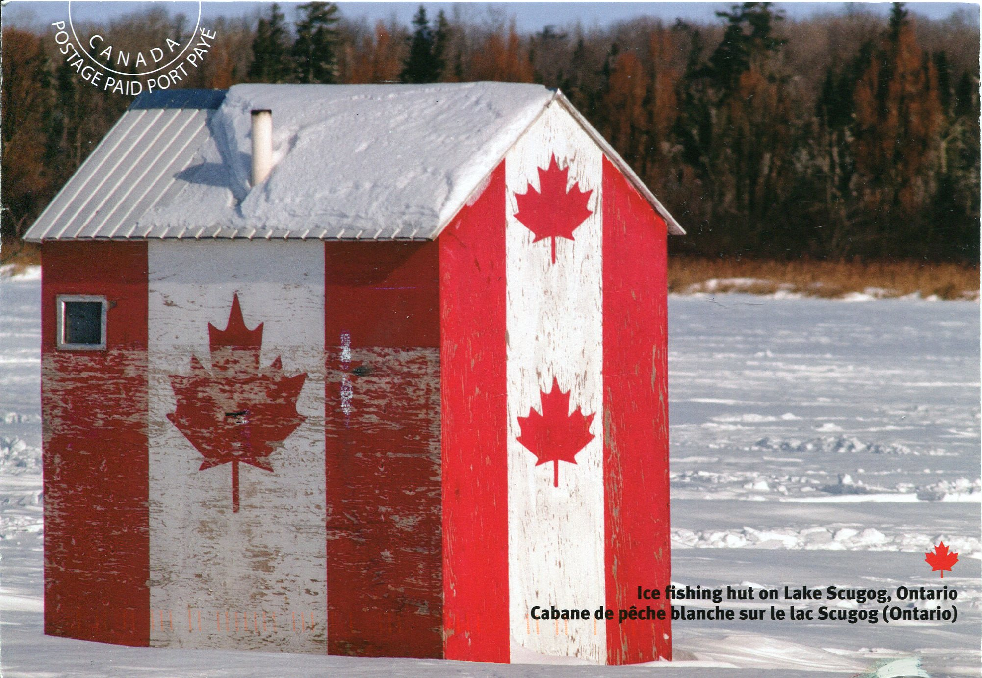 Canada remembering letters and postcards page 2 for Ice fishing hut