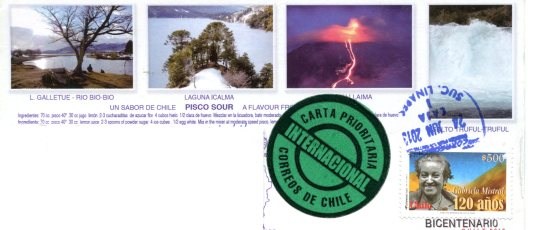 Chili - Conguillío National Park stamps