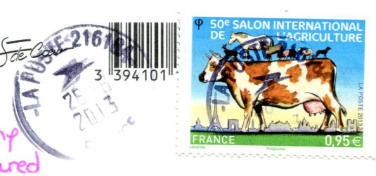 France - Ouistreham Lighthouse stamps
