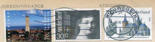 France - Paris Pantheon -Netherlands stamps