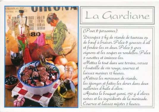 France - Recipe La Gardiane