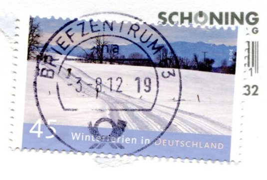 Germany - Map Ostfriesland stamps
