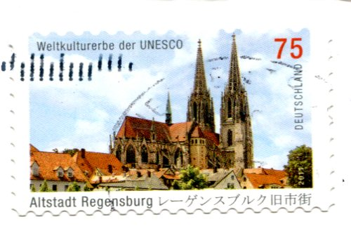 Germany - Spinning woman stamps