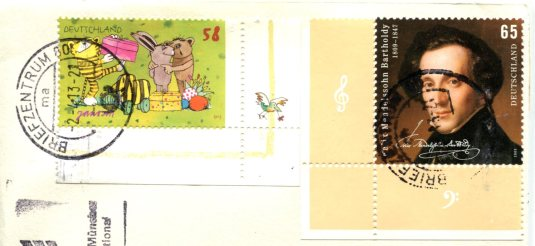 Germany - Statue of Bavaria and Hall of Fame stamps 1