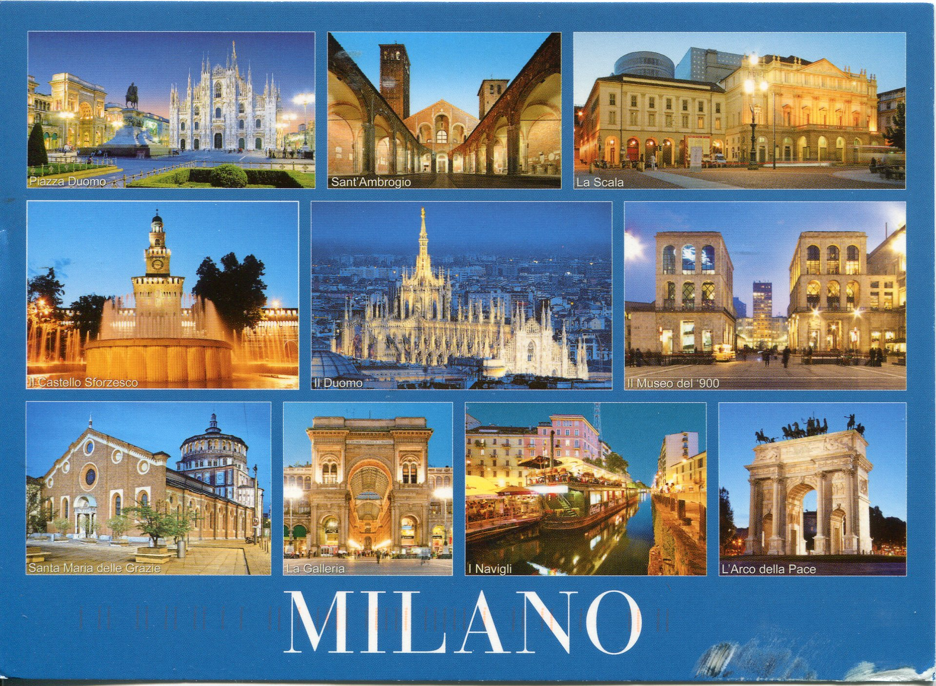 Milan Italy Remembering Letters And Postcards