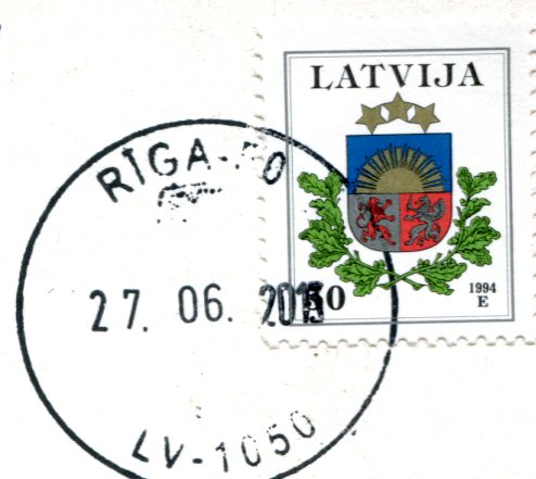 Latvia - Music and Roses stamps