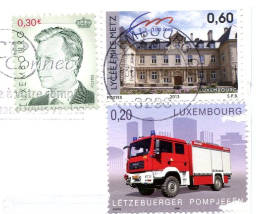 Luxembourg - Chateaux stamps