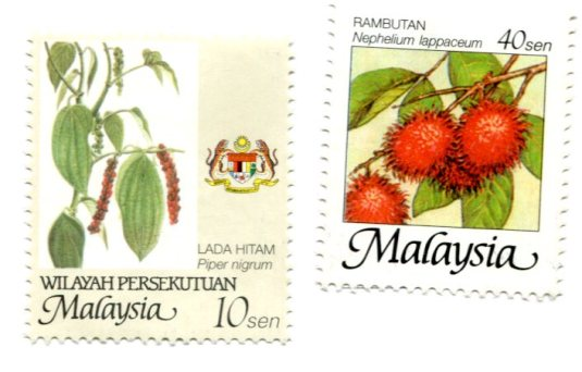 Malaysia - Dutch Square stamps
