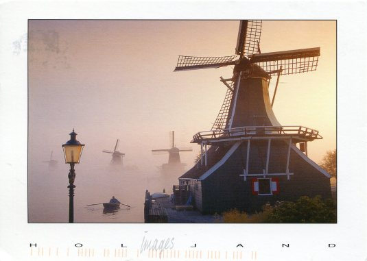 Netherlands - Windmills in the Fog