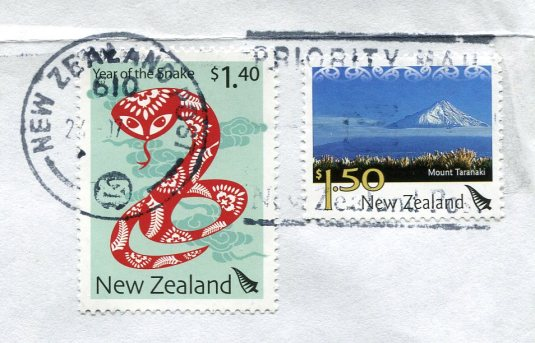 New Zealand - Mount Egmont and Lighthouse stamps