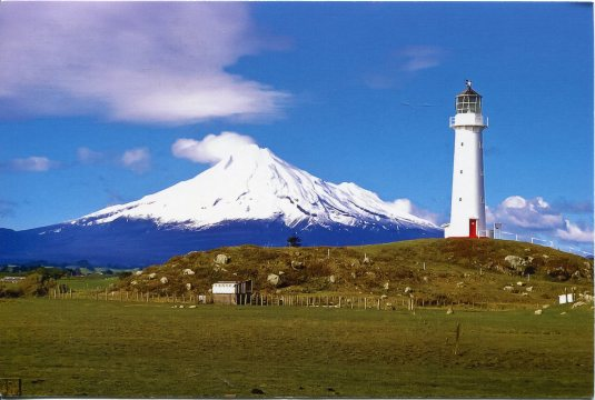 New Zealand - Mount Egmont and Lighthouse