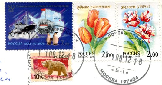 Russia - Camel stamps