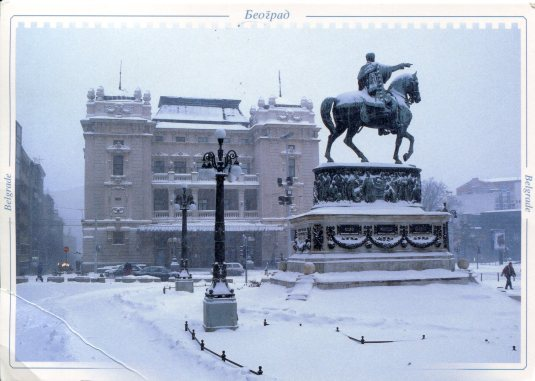 Serbia - Monument Prince Mihailo Obrenovic