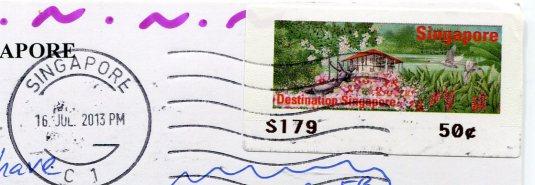 Singapore - Elgin Bridge stamps
