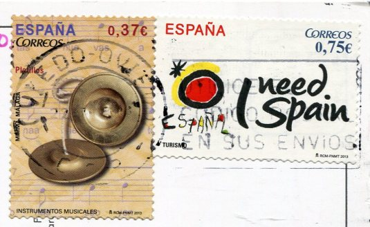 Spain -Caceres Street and Donkey stamps
