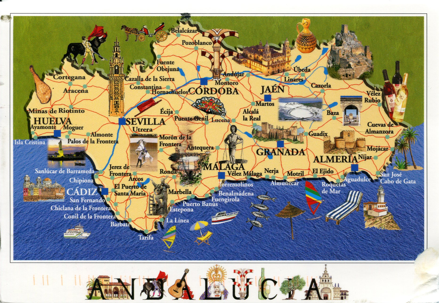 Andalousie, dans la lumière des villages blancs Spain-map-of-andalucia