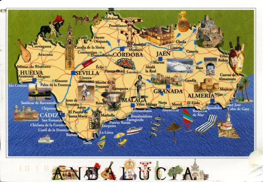 Spain - Map of Andalucia