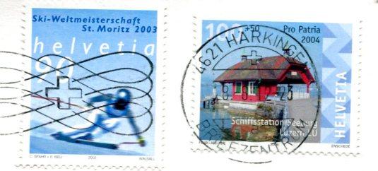 Switzerland - Oberhofen Castle stamps