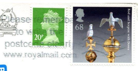 UK - Haddon Hall stamps