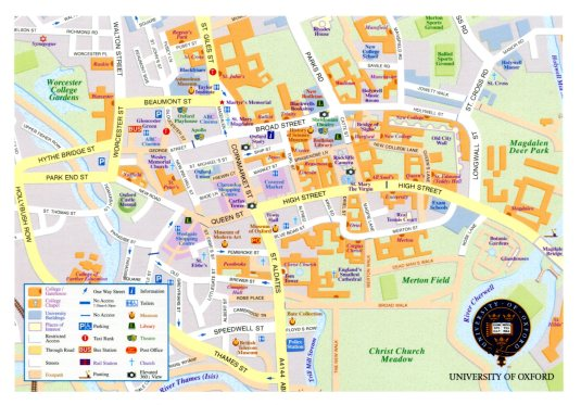 UK - Oxford Map