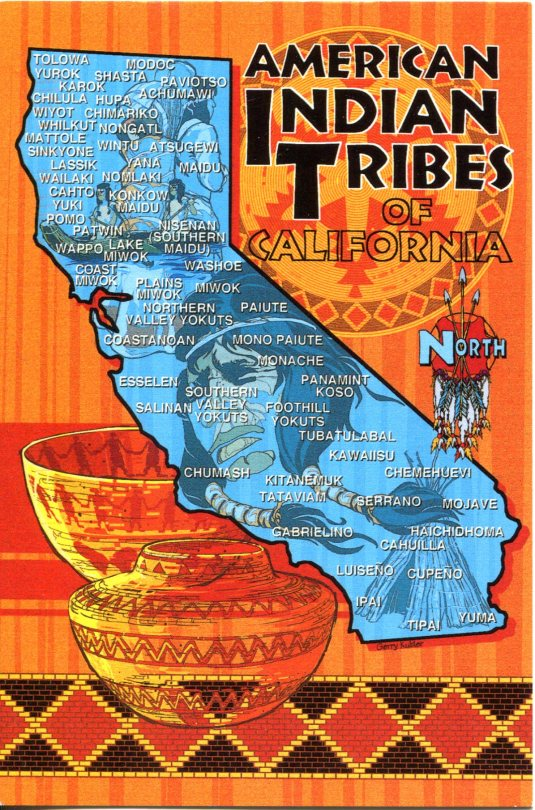 USA - California - Map of Indian Tribes
