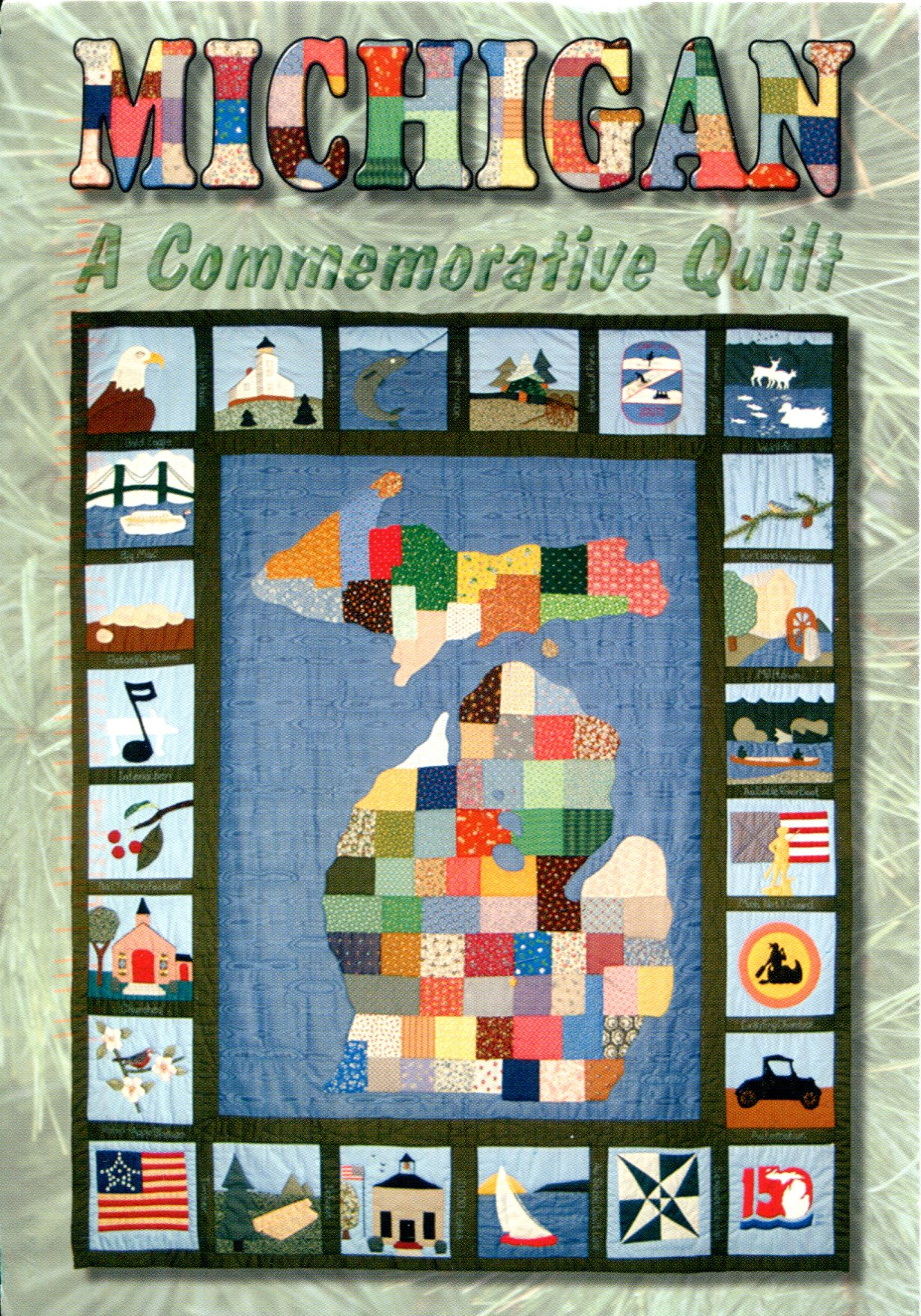 Map Remembering Letters And Postcards Page - Us state map quilt