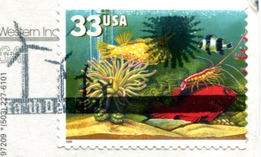 USA - Oregon - Latourell Falls stamps