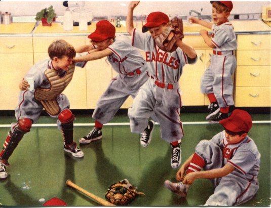 USA - Z - Boys Playing Baseball