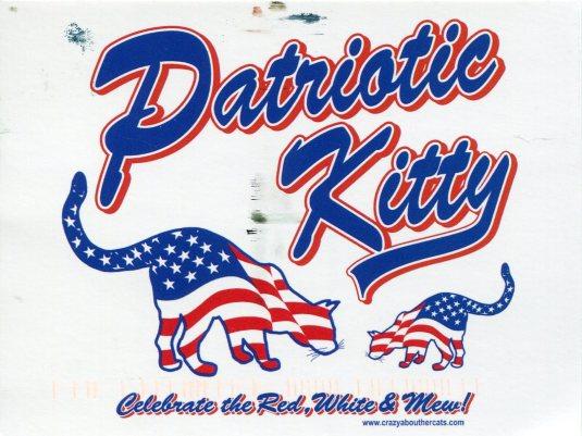 USA - Z - patriotic Kitty