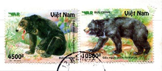 Vietnam - Farmer in No Vietnam stamps