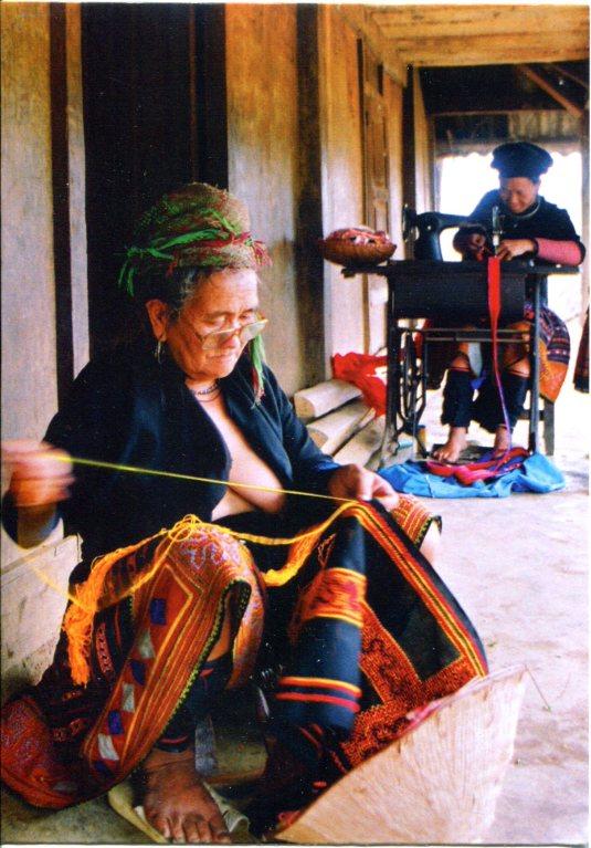 Vietnam - Woman and Needlework