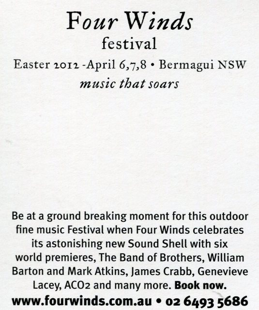 Australia - Four Winds Festival back