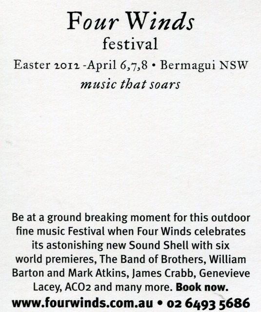 Australia - Four Winds Festival back