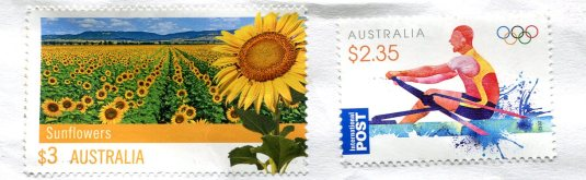 Australia - Map stamps